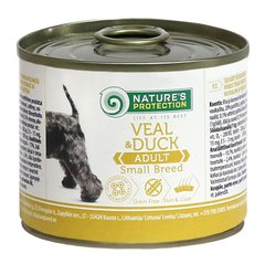Nature's Protection Adult small breed Veal & Duck 400г