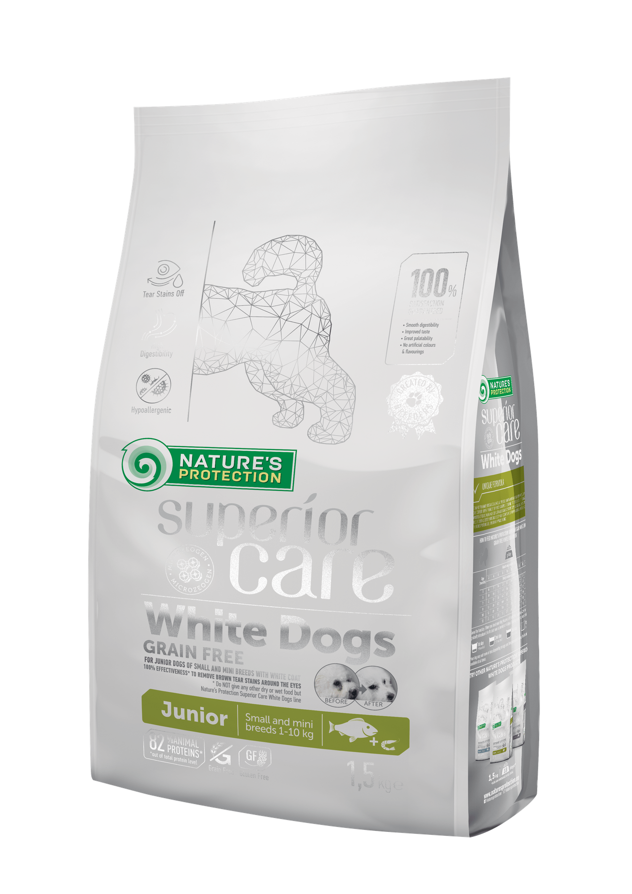 NP Superior Care White Dogs Grain Free Junior Small and Mini Breeds 17 кг